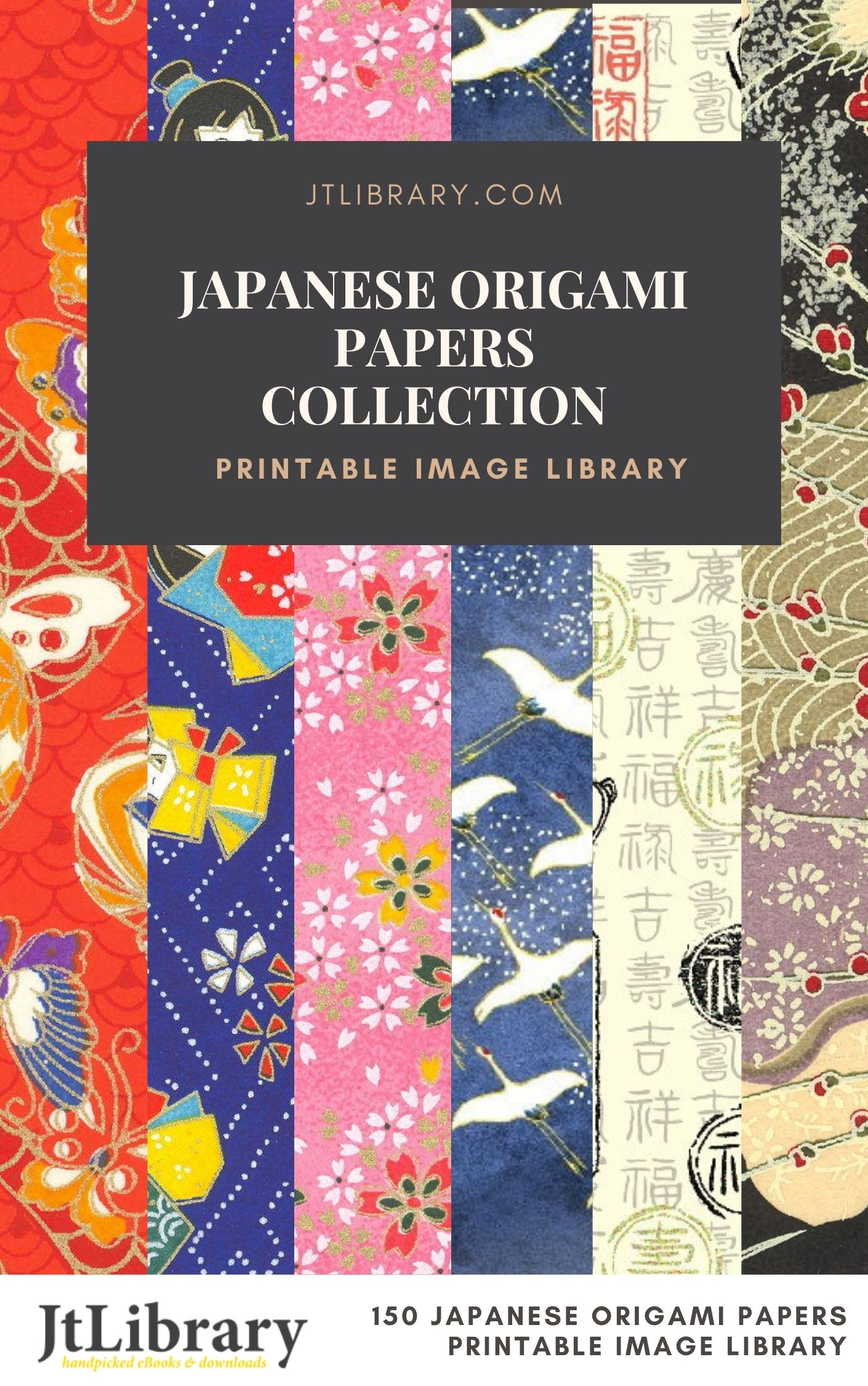 Japanese Origami Papers & Patterns Collection (Printable Image Library)